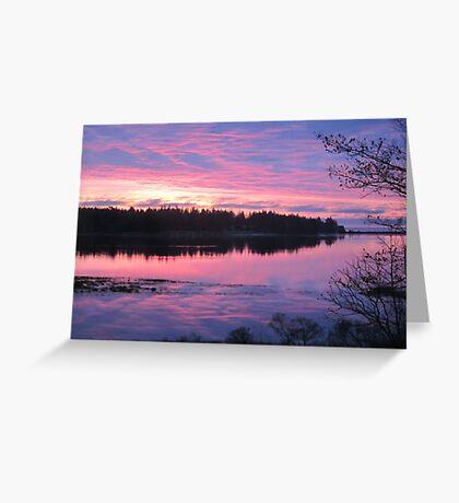 Sunrise over Oak Island, Nova Scotia Greeting Card