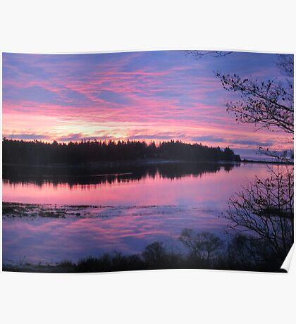 Sunrise over Oak Island, Nova Scotia Poster