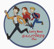 Let's Run to Gallifrey One One Piece - Long Sleeve