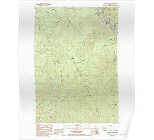 USGS Topo Map Oregon Lawhead Creek 280484 1985 24000 Poster