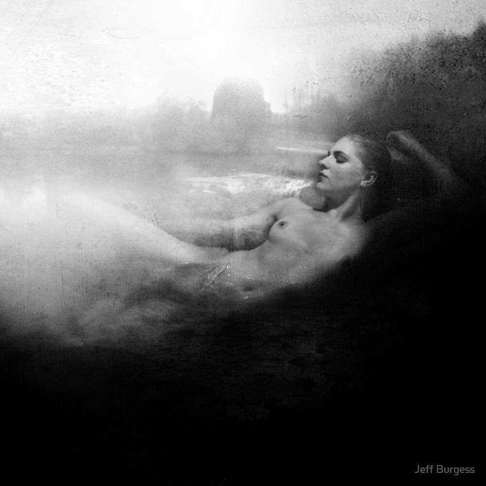 The Bath - Film Noir Style by Jeff Burgess