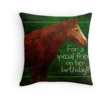 special friend birthday for Cheryl Throw Pillow