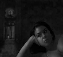 Rosabel and The Church - Film Noir Style by Jeff Burgess