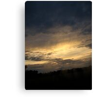 Sunset Passing By Canvas Print