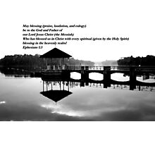Peirce water bw Photographic Print