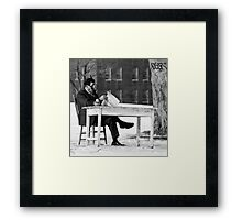 Tea and the Paper Framed Print