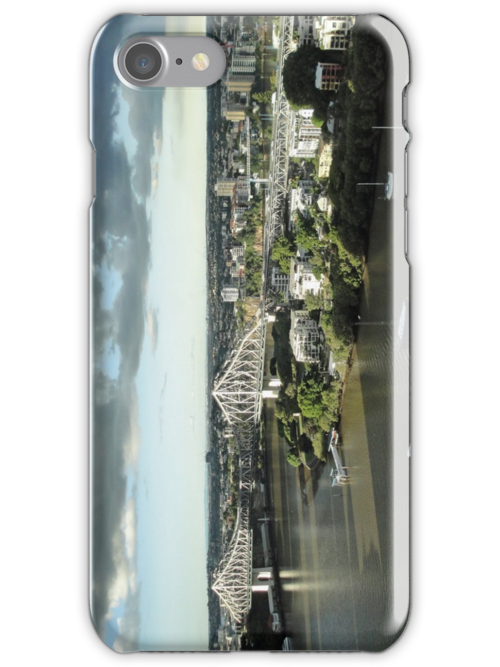 Story Bridge and storm clouds by STHogan