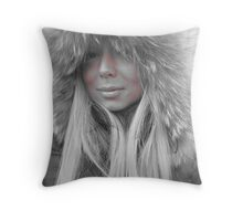 Winter doll! Throw Pillow