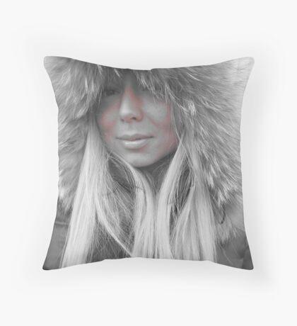 Winter doll! Throw Pillow