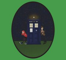 Amy Pond, the Doctor, and the TARDIS One Piece - Short Sleeve