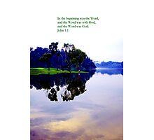 Beginning, water pierce potrait Photographic Print