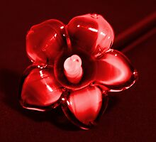Red glass petals by MarthaBurns