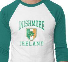 Inishmore, Ireland with Shamrock Men's Baseball ¾ T-Shirt