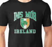 Inis Mor, Ireland with Shamrock Unisex T-Shirt