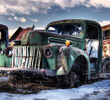 Retired Green Ford Pickup by Timothy S Price