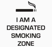 Designated Smoking Zone (Black Print) by gman4000