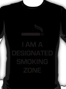 Designated Smoking Zone (Black Print) T-Shirt