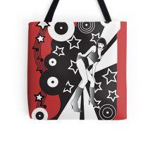 Retro Glam Discotheque Red Tote Bag