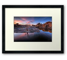 Cliff Difference Framed Print