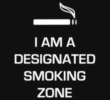 Designated Smoking Zone (White Print) by gman4000