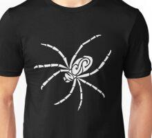 Spider Tribal Design - White Unisex T-Shirt