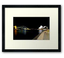 Sydney - Opera House and Harbour Bridge Framed Print