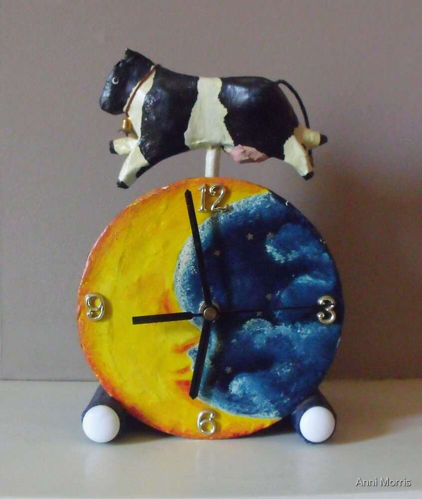 The Cow Jumped Over the Moon (made from daily newspapers) by Anni Morris
