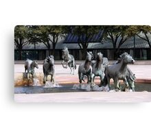The Mustangs Of Las Colinas Canvas Print