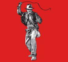 Indiana Jones Hand-drawing One Piece - Short Sleeve