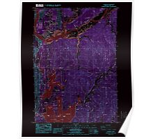 USGS Topo Map Oregon Florence 279901 1984 24000 Inverted Poster