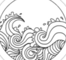 Circular Ocean Waves Sticker Sticker