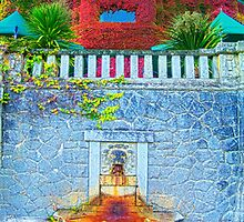 RR Lion's Head Fountain (vertical panorama) by James Zickmantel
