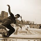 Skateboarder  by stevekellyphoto