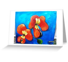 BACON AND EGG ORCHID Greeting Card