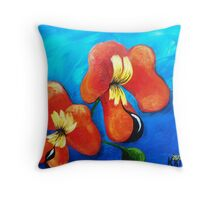 BACON AND EGG ORCHID Throw Pillow