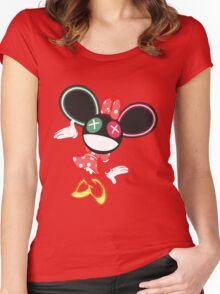 The Mouse is in da House V2 Women's Fitted Scoop T-Shirt