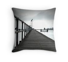 Plankety Planks Throw Pillow