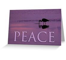 heron feeding peace card Greeting Card