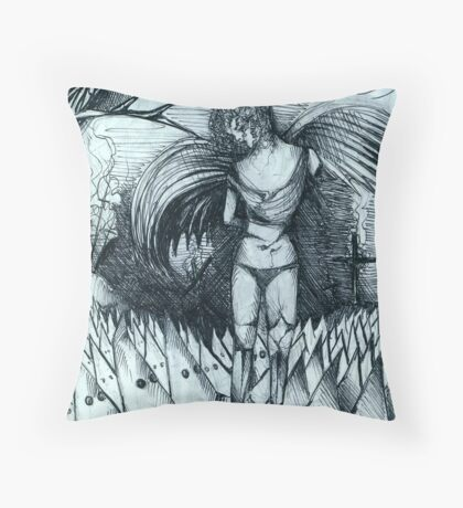 THE DAMNED Throw Pillow
