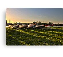Kayaks  - sunset - Australia Canvas Print