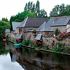 Houses with lavoirs along the Trieux river by 29Breizh33