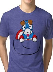 Pocket Captain Pup Tri-blend T-Shirt