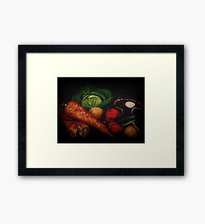 Still Life of Vegetables Framed Print