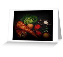Still Life of Vegetables Greeting Card