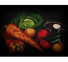 Still Life of Vegetables Photographic Print