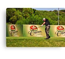 (2) The Hit - Torquay Sands Golf Club Canvas Print