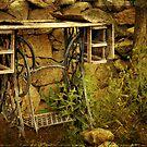 Antique Treadle Machine by pat gamwell