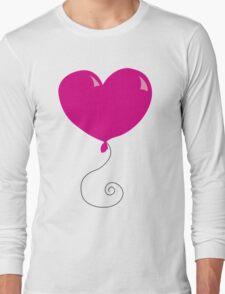Fly Away Heart Balloons Long Sleeve T-Shirt
