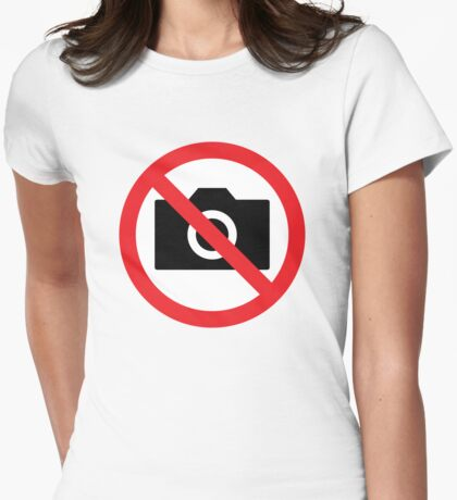 no pictures plz Womens Fitted T-Shirt