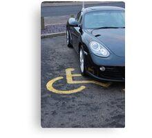 Blind Driver Canvas Print